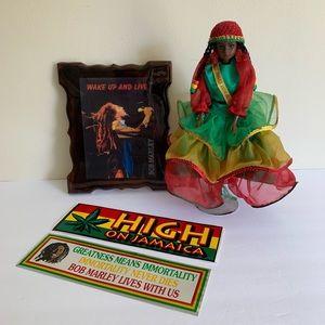 Bob Marley Regge & Jamaican Doll Collection.